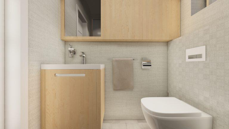 kúpeľňa v modulovom drevodome | emter.sk