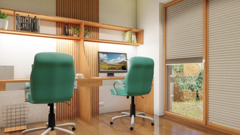 návrh kancelárie v modulovom drevodome | emter.sk