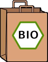 bio papierová taška na potraviny