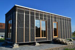 modulový drevodom vrchná fólia