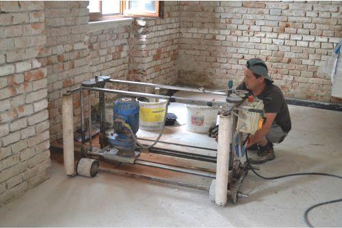 podrezanie múru a vloženie hydroizolácie