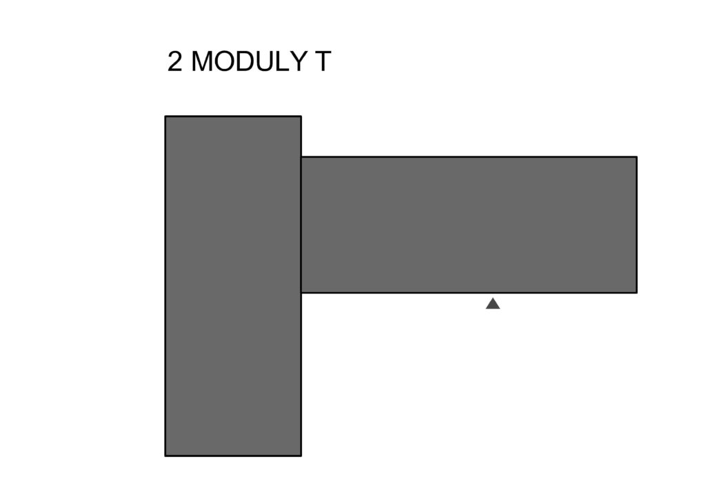 spájanie modulov - modul T